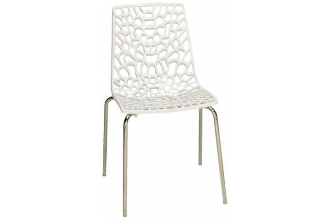 Chaise design blanche traviata chaise design pas cher for Chaise blanche design pas cher