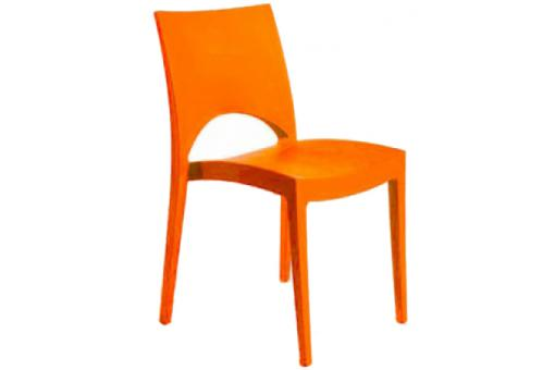 Chaise Design Orange VENISE - Salle a manger moderne