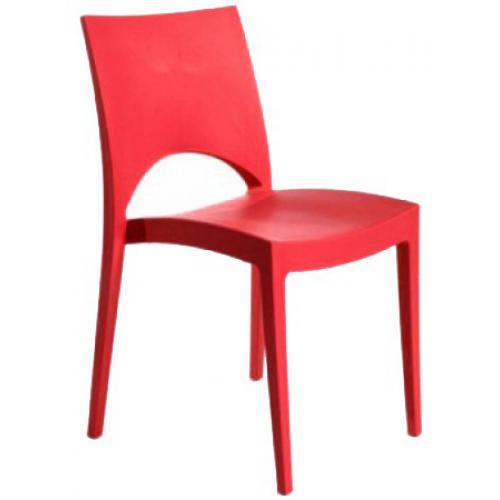 Chaise Design Rouge VENISE - Salle a manger moderne