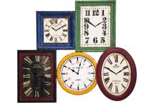 Horloge Design Mur de 5 Horloges Kare Design Vintages Multicolores, deco design