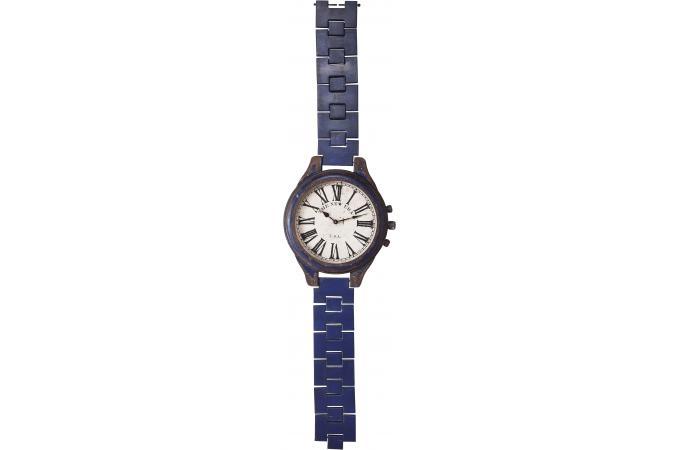 Deco Chambre Style Asiatique : Horloge Montre XXL Vintage Bleu  Horloge Design Pas Cher
