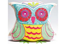 Coussin Hibou Blanc Bertrand - Coussin kare design