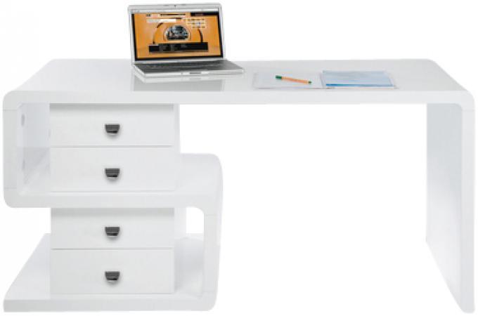 Bureau blanc serpent bureau pas cher for Bureau blanc design