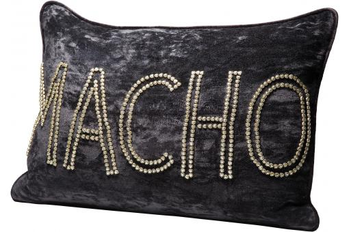 Coussin Brodé Perles Macho
