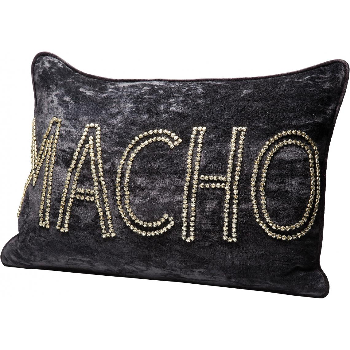 Coussin Rectangulaire Brodé Perles Macho