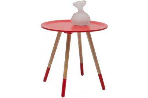 Table d'appoint 4 pieds Rouge Vincent