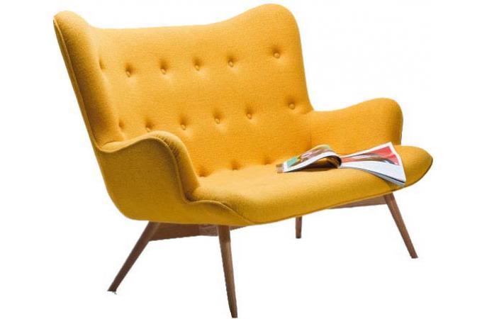 canap jaune art d co warhol 2 places canap 2 places pas cher. Black Bedroom Furniture Sets. Home Design Ideas