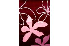 Tapis deco rose Flowers 120x160 cm - Tapis rose