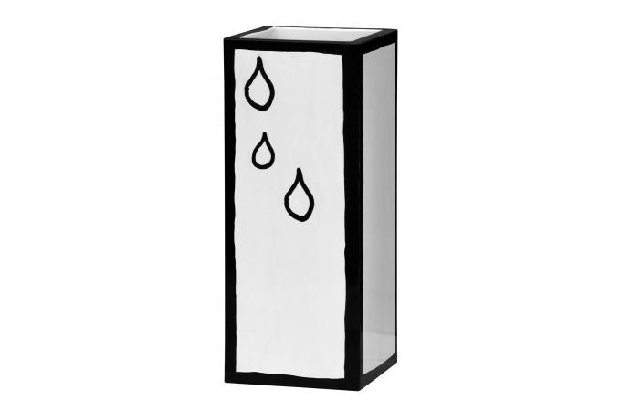 porte parapluie m tal blanc cartoon georges porte. Black Bedroom Furniture Sets. Home Design Ideas