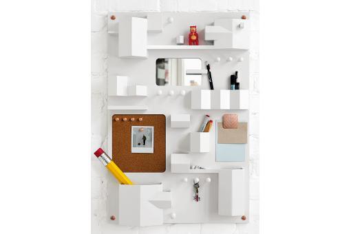 panneau rangement li ge blanc seletti meuble de rangement pas cher. Black Bedroom Furniture Sets. Home Design Ideas