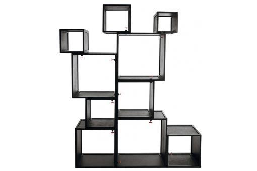 Cubes modulables noirs alfred meuble de rangement pas cher - Meubles cubes modulables ...