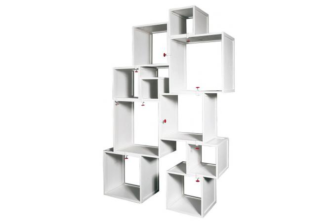 cubes modulables blancs alfred meuble de rangement pas cher. Black Bedroom Furniture Sets. Home Design Ideas