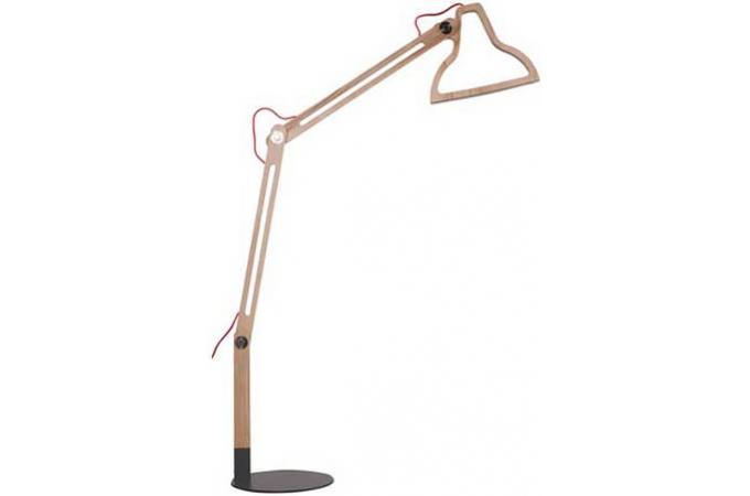 lampadaire en bois naturel flat lampadaire pas cher. Black Bedroom Furniture Sets. Home Design Ideas