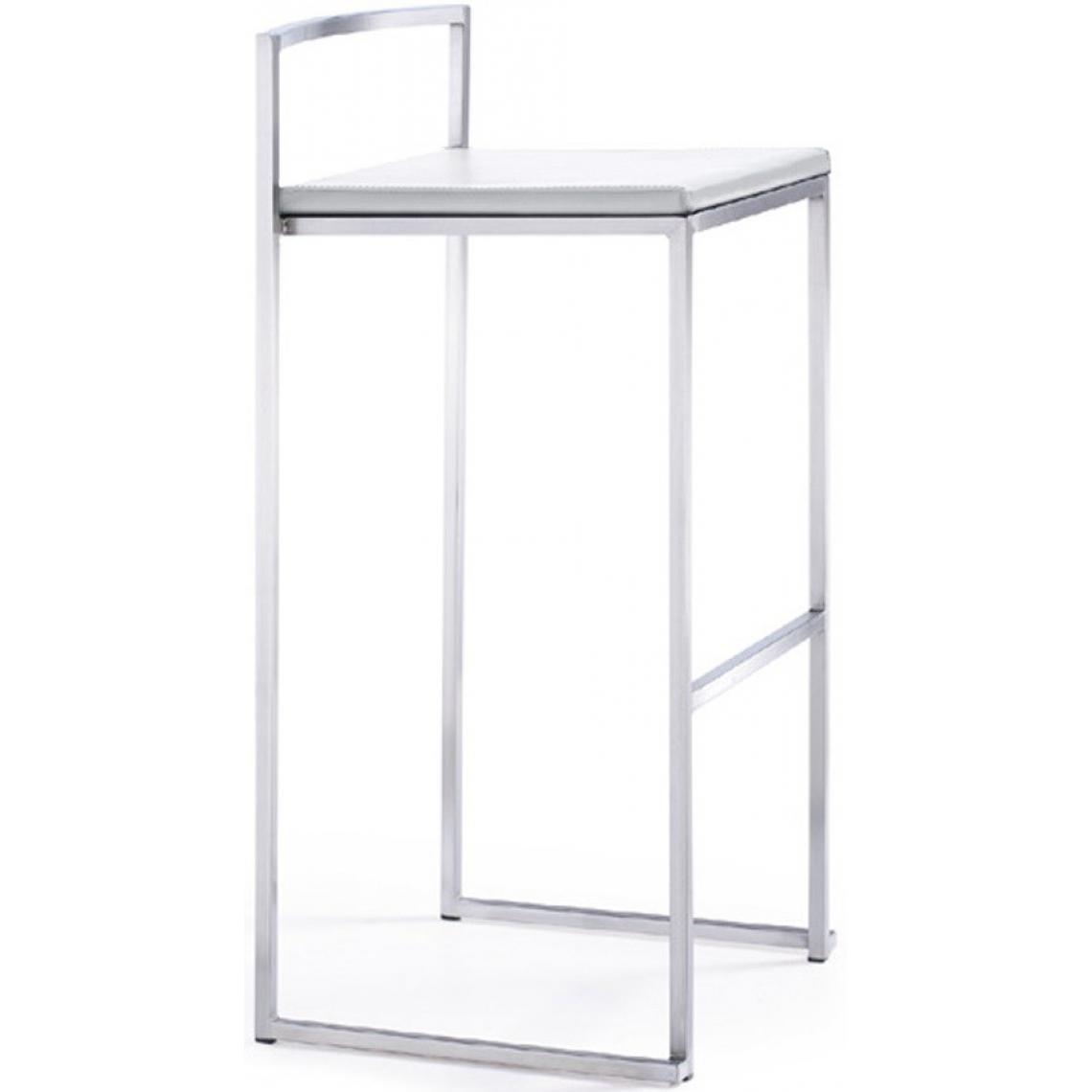 Tabouret de bar blanc Jimmy