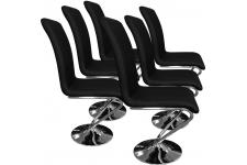 Chaise Design Lot de 6 chaises Angélique Noir, deco design