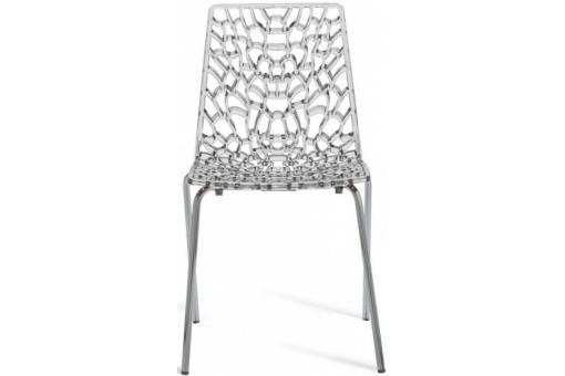 Chaise transparente traviata deco design - Chaise gruyere transparente ...
