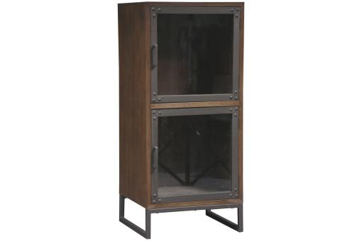vitrine bois industriel fred deco design. Black Bedroom Furniture Sets. Home Design Ideas