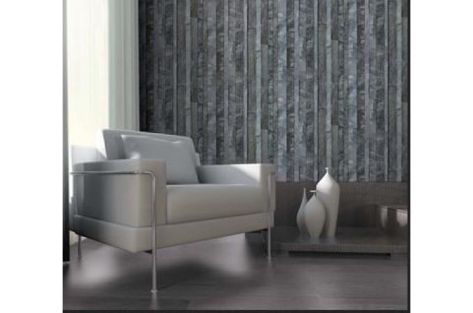 papier peint ardoise en lamelle grise papier peint trompe l 39 oeil pas cher. Black Bedroom Furniture Sets. Home Design Ideas