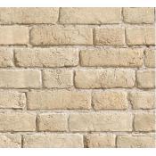 Papier Peints Brique & Pierre Papier peint briques beiges cendrées, deco design