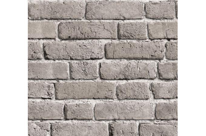 Papier peint briques grises cendr es papier peints - Papier peint pas cher castorama ...