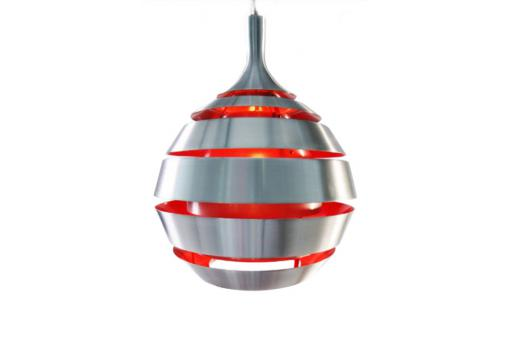 Lampe suspension lumière rouge Space