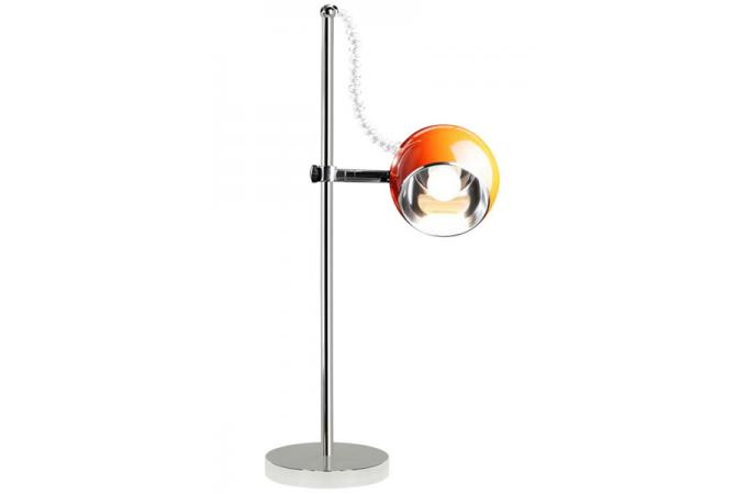 Lampe poser en m tal orange boule lampe poser pas cher for Lampe a poser boule