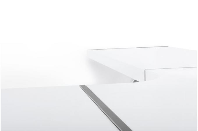 Bureau blanc laqu kangourou bureau pas cher for Grand bureau blanc laque