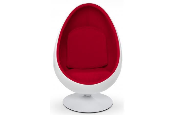 fauteuil oeuf 70 blanc simili cuir rouge fauteuil design. Black Bedroom Furniture Sets. Home Design Ideas