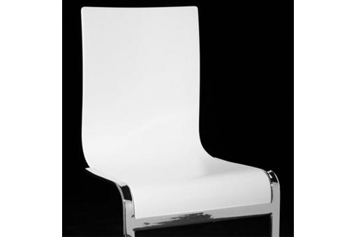 Chaise blanche Pop