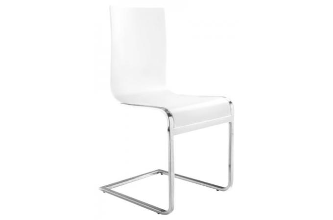 Chaise blanche pop chaise design pas cher for Chaise blanche design