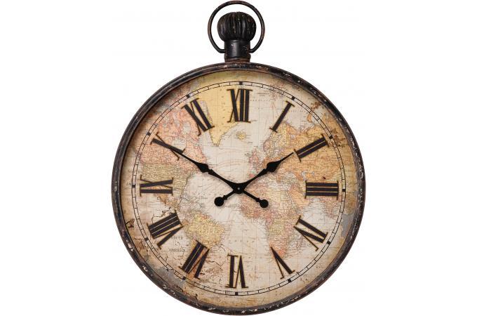 Horloge murale marron alicia horloge design pas cher - Horloge murale geante pas cher ...