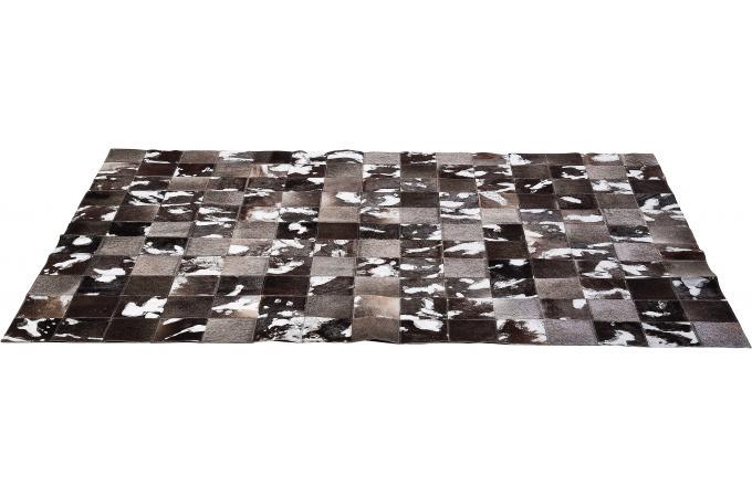 tapis marron et gris cuir de vachette espace tapis. Black Bedroom Furniture Sets. Home Design Ideas