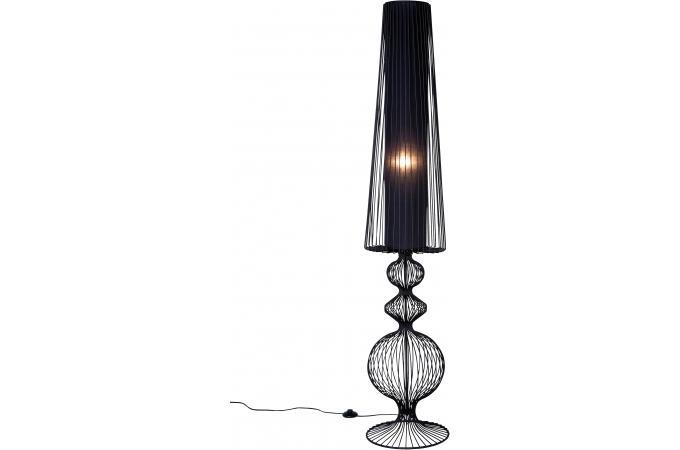 Lampadaire noir acier primero lampadaire pas cher for Lampe salon pas cher