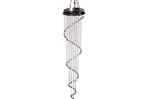 KARE DESIGN - Suspension argentée cristal falling Bright