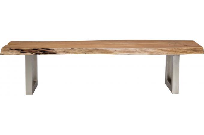 Banc marron bois genoa banquette m ridienne pas cher for Outlet tavoli design