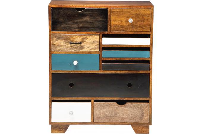 commode multicolore plaqu bois coco commode pas cher. Black Bedroom Furniture Sets. Home Design Ideas