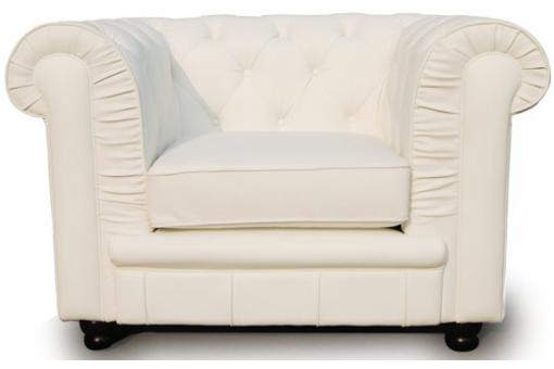Fauteuil Chesterfield 1 place blanc James
