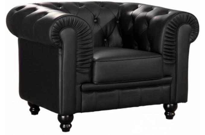 fauteuil chesterfield 1 place noir james fauteuil chesterfield pas cher. Black Bedroom Furniture Sets. Home Design Ideas