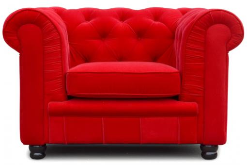 Fauteuil Chesterfield 1 place velours James