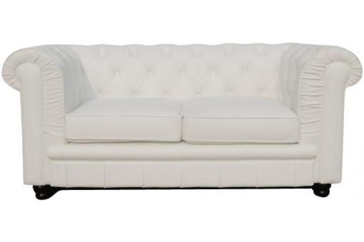 Canapé Chesterfield 2 places blanc James