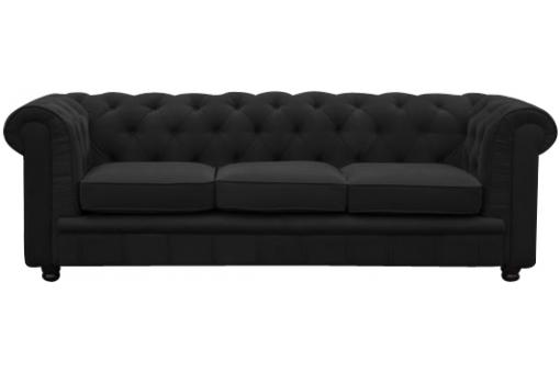 Canapé Chesterfield 3 places noir James