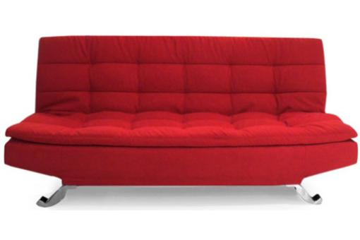 Clic clac canap convertible sally rouge deco design - Canape clic clac rouge ...