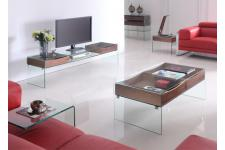 Table basse en verre Hartley - Table basse verre design