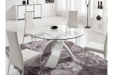Table en verre ronde Versailles blanc, deco design