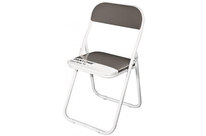 chaise pliante pantone grise anthracite barcelona chaise pliante pas cher. Black Bedroom Furniture Sets. Home Design Ideas
