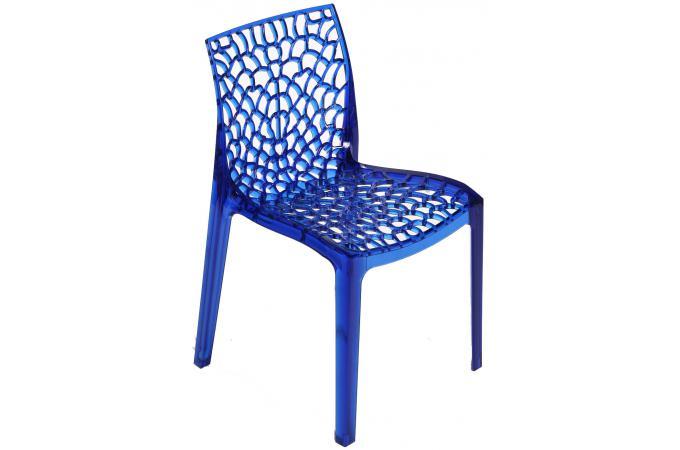 Chaise design transparente bleue gruyer transparent - Chaise design transparente ...