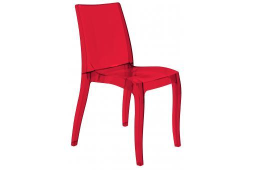 Chaise design transparente rouge athenes chaise design pas cher - Chaise transparente rouge ...