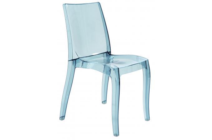 Chaise design transparente grise athenes chaise design - Chaise transparente pas cher ...