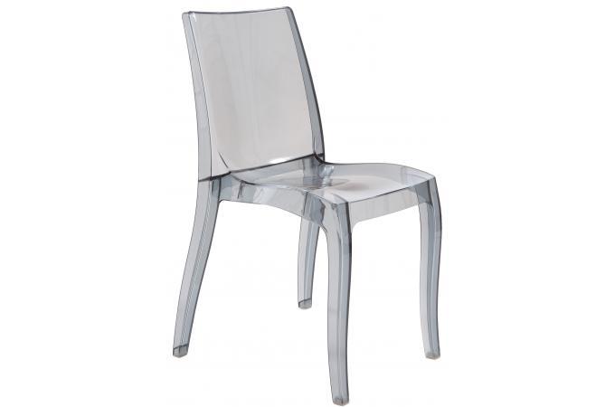 chaise design transparente grise athenes chaise design pas cher. Black Bedroom Furniture Sets. Home Design Ideas