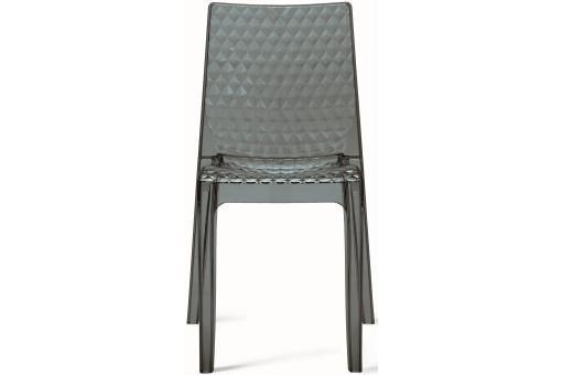 Chaise design transparente grise delphes chaise design for Chaise grise transparente